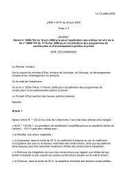 Le 10 juillet 2009 JORF n°0141 du 20 juin 2009 Texte n°3 DECRET ...