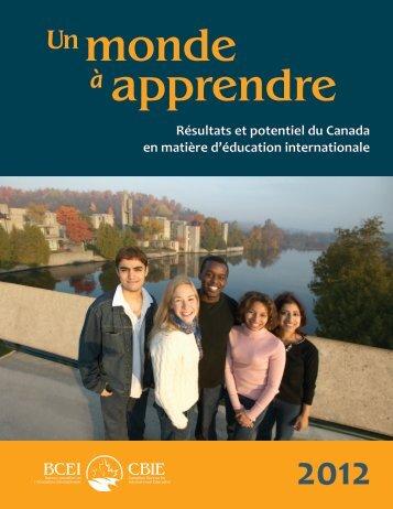 Résultats et potentiel du Canada en matière d'éducation internationale