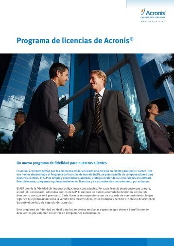 Programa de licencias de Acronis® - Insight