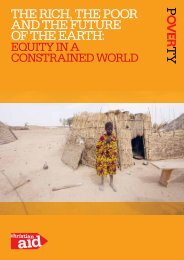 Equity in a Constrained World - Christian Aid
