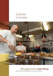 Cuisinier Cuisinière - Fondation Battenberg