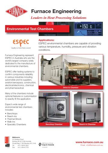 Environmental Test Chambers Rev 0.indd - Furnace Engineering