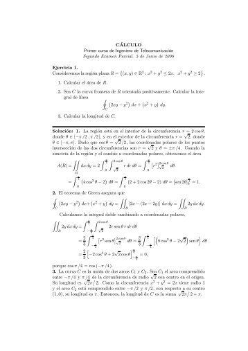 Soluciones del Segundo Examen Parcial (Junio 2008)