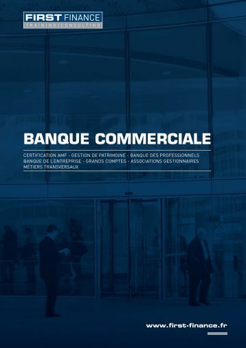 1. CATALOGUE-BANQUE-COMMERCIALE.indd - First Finance