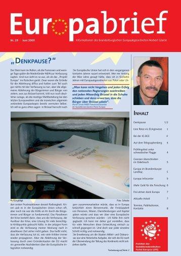Europabrief Juni 2005 - Glante, Norbert