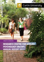 ReSeaRch centRe foR aPPlied PSychology (RecaP) - Health ...