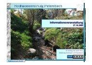 Maßnahmenplan Überblick - Wasser
