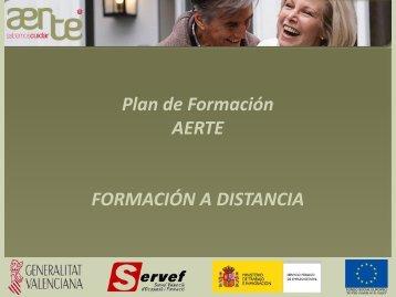 Plan de Formación AERTE FORMACIÓN A DISTANCIA