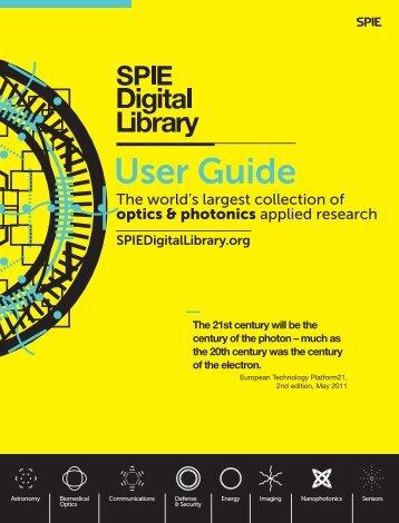 DL User Guide 2013.indd - SPIE Digital Library