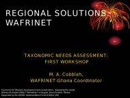 REGIONAL SOLUTIONS: WAFRINET - BioNET