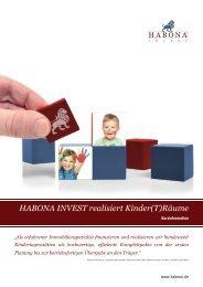 HABONA INVEST realisiert Kinder(T)Räume
