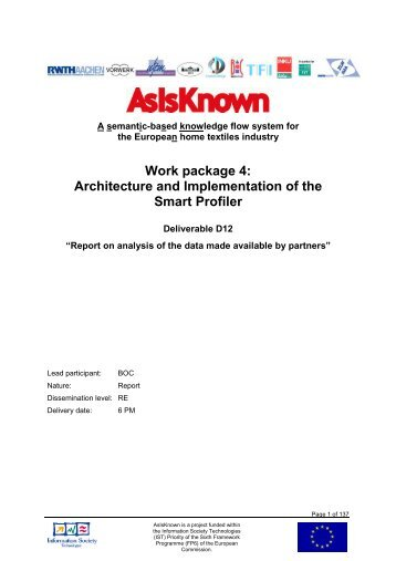 Architecture and Implementation of the Smart Profiler - AsIsKnown