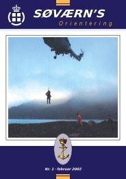 Søværnsorientering nr. 1 / 2002 - Marinehistorisk Selskab og ...