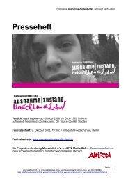 Presseheft - Ausnahme Zustand