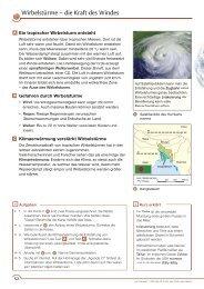 Wirbelstürme – die Kraft des Windes