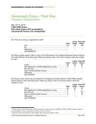 Democracy Corps - Third Way - Greenberg Quinlan Rosner
