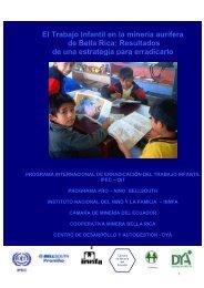 El trabajo infantil en la minería aurífera de Bella Rica