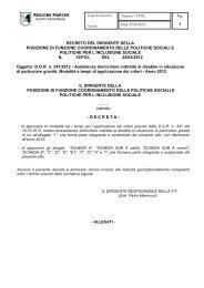 decreto del dirigente della posizione di funzione coordinamento ...