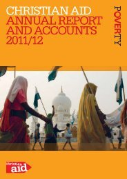 christian aid annUaL rEPOrt and accOUnts 2011/12