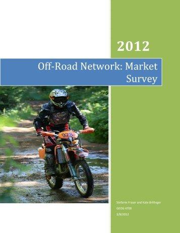 Off-Road Network: Market Survey - Bridgelin.ca