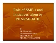 Role of SMEs and Initiative taken by Pharmexcil - pharmaceuticals ...