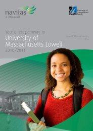 Your Direct Pathway To University Of Massachusetts Lowell - Navitas