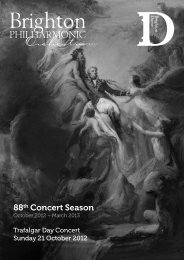 88th Concert Season - Brighton Philharmonic Orchestra