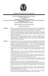 peraturan daerah kabupaten gunungkidul - JDIH Kemendagri