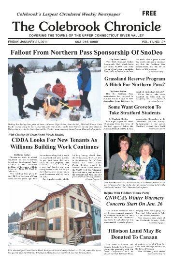 January 21, 2011 - Colebrook Chronicle