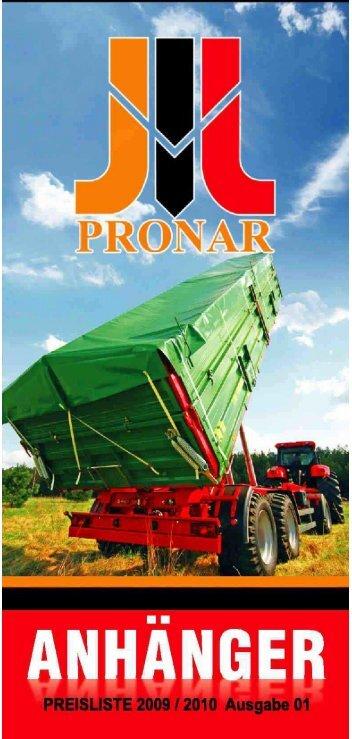 Pronar-Prospekt - EURO Jabelmann