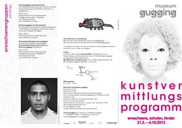 Folder Kunstvermittlung im museum gugging