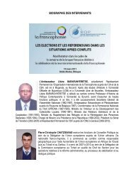BIOGRAPHIE DES INTERVENANTS