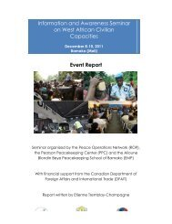 Information and Awareness Seminar on West African Civilian ... - ROP