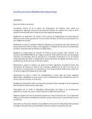 Accord de cessez-le-feu en République démocratique du Congo ...