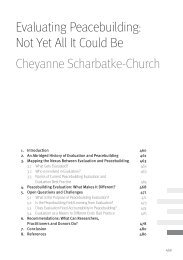 Not Yet All It Could Be - Berghof Handbook for Conflict Transformation