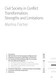 Strengths and Limitations - Berghof Handbook for Conflict ...