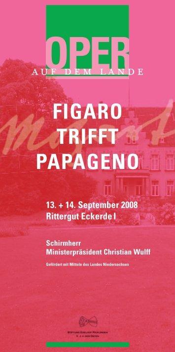 Programmheft - Oper auf dem Lande, Hannover