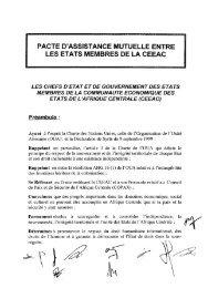 Pacte d'assistance mutuelle entre les États membres de la CEEAC