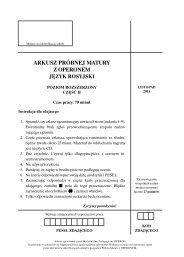 arkusz próbnej matury z operonem język rosyjski