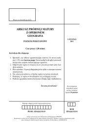 arkusz próbnej matury z operonem geografia - Gazeta.pl