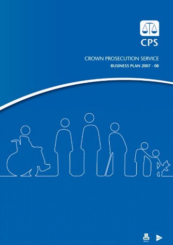 CPS Business Plan 2007-08 - PDF - Crown Prosecution Service