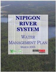 The Nipigon River System Water Management Plan - Ontario Power ...