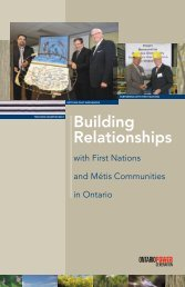 with First Nations and Métis Communities in Ontario - Ontario Power ...