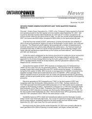 2007 Third Quarter MD&A - Ontario Power Generation
