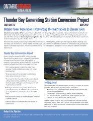 Thunder Bay Conversion Fact Sheet May 2012 - Ontario Power ...
