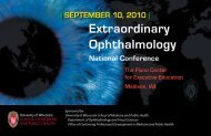 extraordinary Ophthalmology - University of Wisconsin Department ...