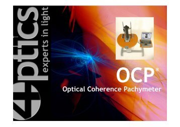 Optical Coherence Pachymeter OCP