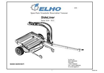 Sideliner Series 10.4 & 10.5 Parts Manual - Opico