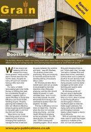 Boosting mobile drier efficiency - Opico