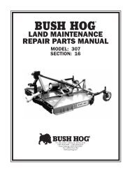 BUSH HOG / LAND MAINTENAN